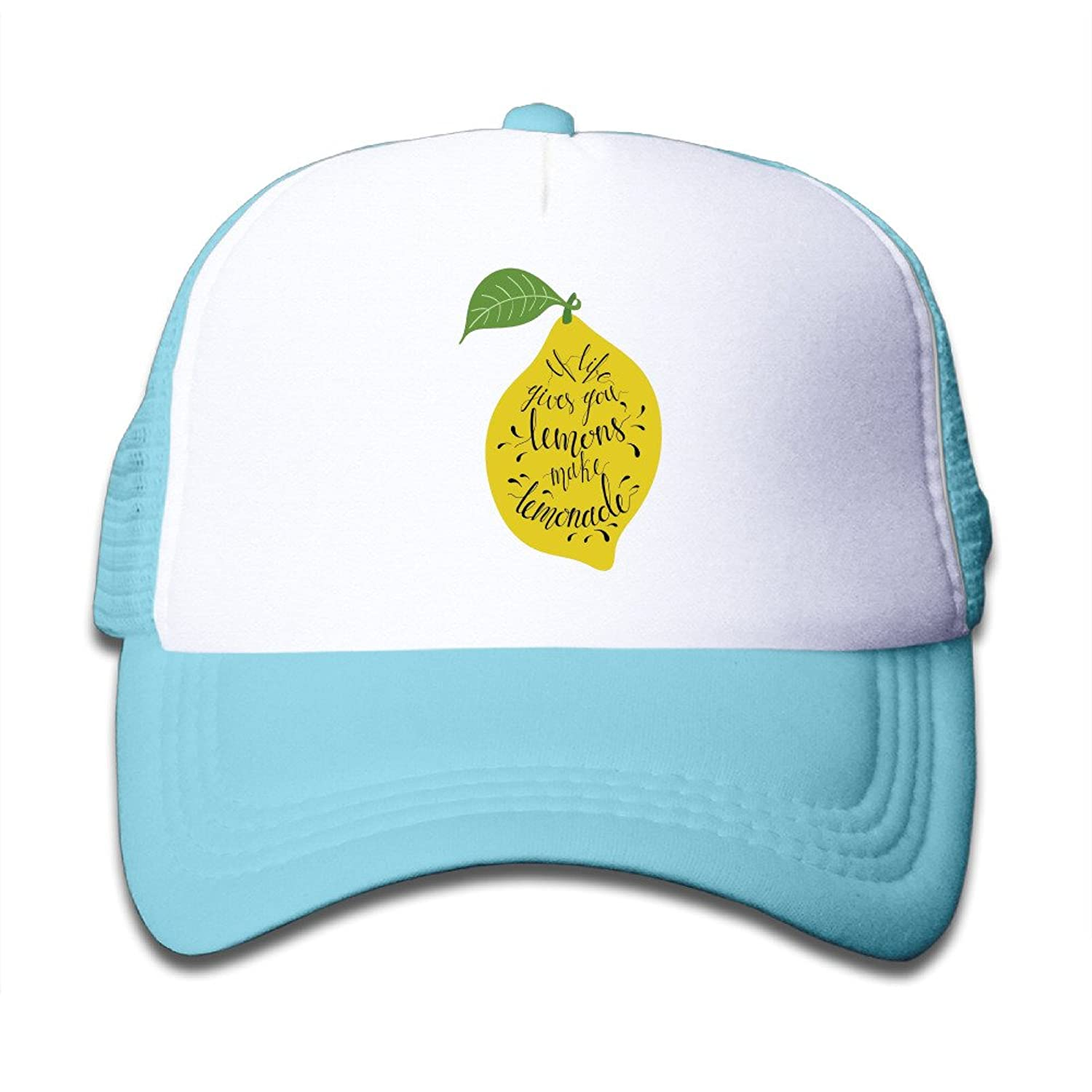 hot If Life Gives You Lemons, Make Lemonade Adjustable Snapback Hat Summer Truck Caps For Youth One Size Fits Most save more