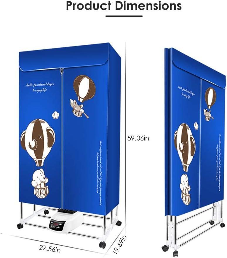 KKTECT S/èche-Linge /électrique /à la Maison S/èche-Linge chauff/é aux ions n/égatifs 1500W-33LB Chauffe-s/èche-Linge Portable S/échoir /à air pour Armoire Pliable Minuterie Automatique /à t/&eacut