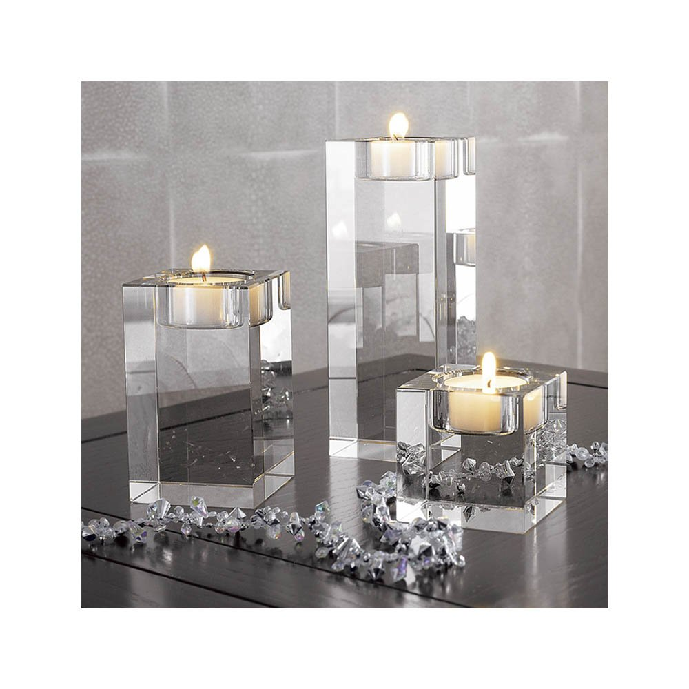Hight of 4+6+8cm cosy-ycy Hohe Qualit/ät K9 Kristall Kerzenhalter Kerzenst/änder Teelichthalter Kerzen steht Best Decor f/ür Hochzeit Geburtstag Weihnachten Bar Party