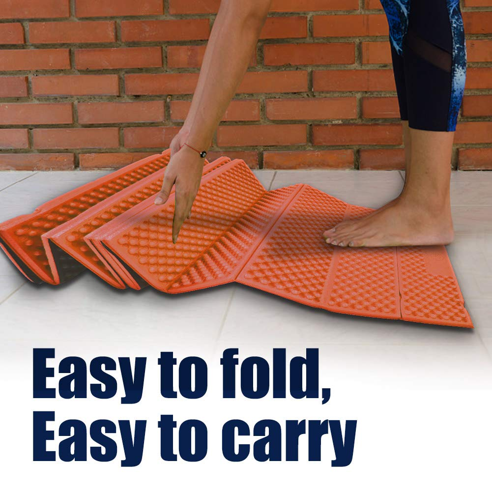 for Outdoor Hiking Mountaineering Delaman Folding Sleeping Pad Foam Camping Mat Beach Tent Waterproof Mattress