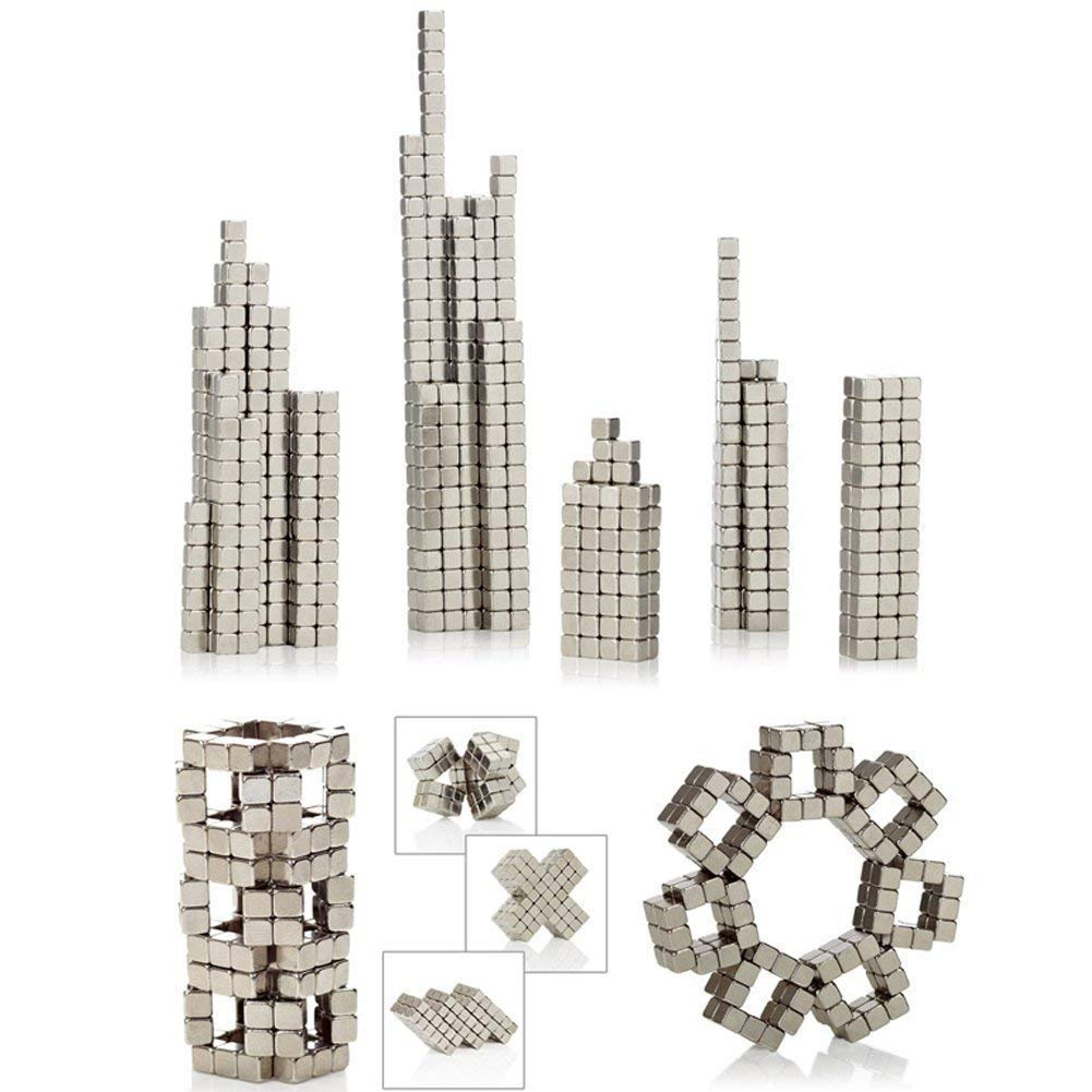 MENGDUO 512pcs 5mm Magnetic Cube Magnets Sculpture Building Blocks Toys for Intelligence Learning -Office Toy & Stress Relief for Adults (Cube) by MENGDUO (Image #4)