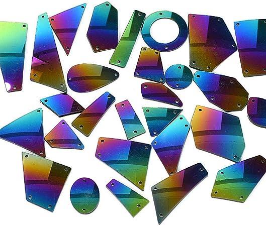 Abalorios de piedras acrílicas con efecto espejo para coser o ...