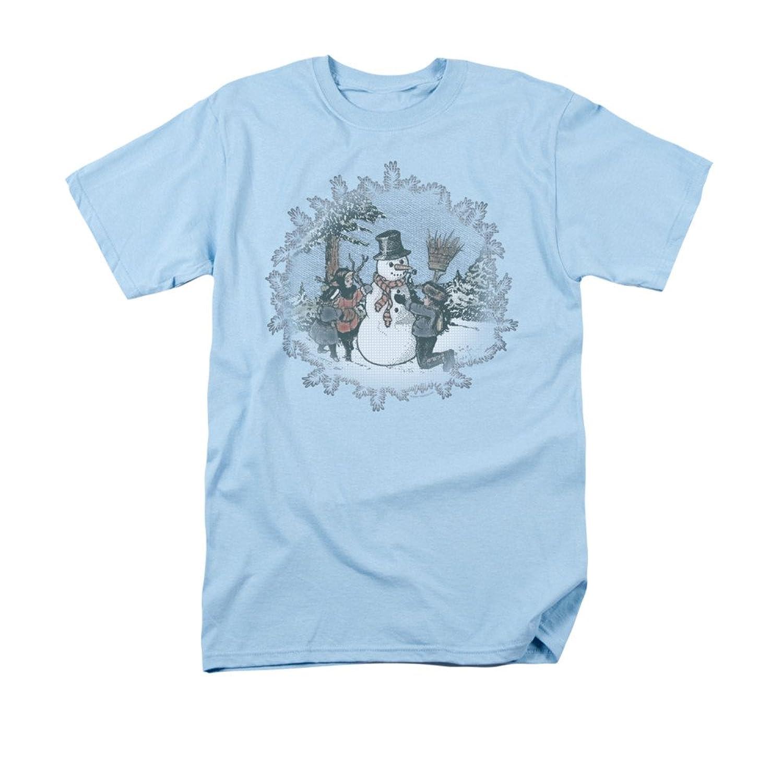 Let It Snow Snow Day Snowman Christmas Print Adult T-Shirt