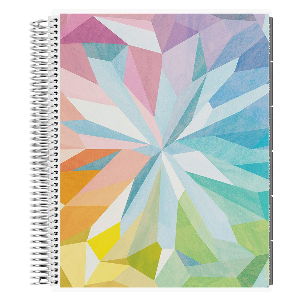 Erin Condren 12-Month 2019-2020 Deluxe Monthly Planner 8.5X11 (August 2019-July 2020) - Kaleidoscope Colorful, Neutral Layout