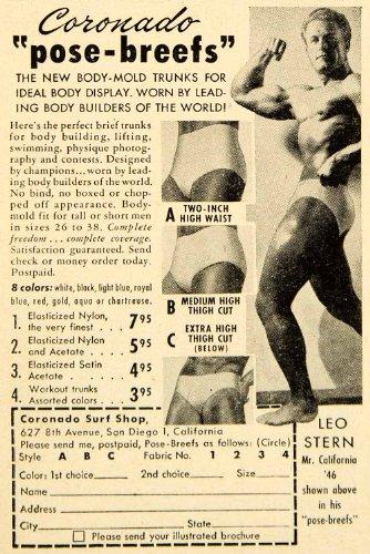 1950 Ad Coronado Surf Shop San Diego California Briefs Underwear Pose-Breefs - Original Print - Coronado Shop Gift