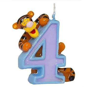 Amazon.com: Disney Winnie The Pooh tarta de cumpleaños vela ...