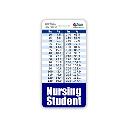Amazon Nursing Student Badge Buddy Vertical Wheight Weight