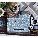 Stylish,Rugged Look and Durable Traditional Multi-Compartment Iron Letter Holder,Provides Ample Storage Space for Your Home or Office,Place it on Desks,Tables,or Shelves to Sort Your Mail with Ease