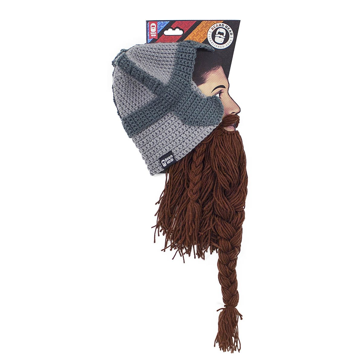 f8f6d0e68a1438 ... Beard Head Dwarf Warrior Beard Beanie - Epic Knit Dwarf Helmet w/Fake  Beard BRB1007BL ...