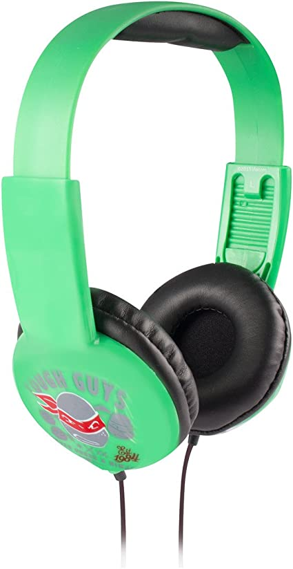 Teenage Mutant Ninja Turtle Kid Safe Headphones HP2-03065 by Nickelodeon, Kid Safe Technology With Volume Control, Built In Volume Limiter, Cushioned ...