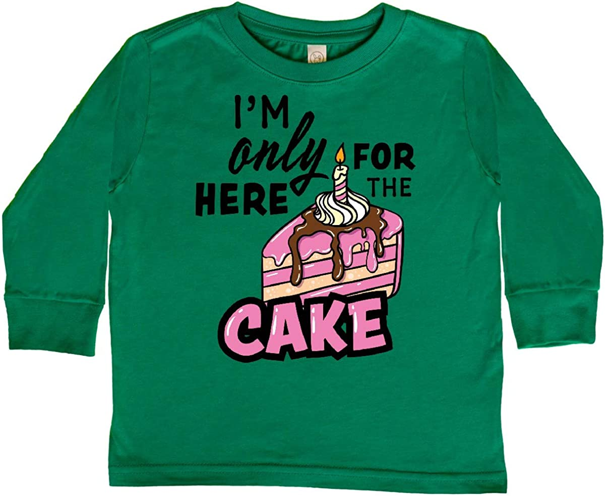 inktastic Im Only Here for The Cake Toddler T-Shirt