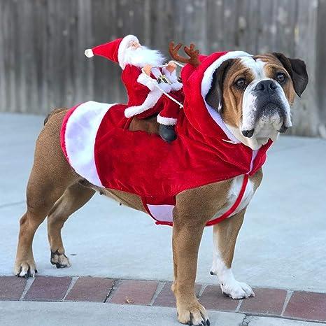 JIMITO Disfraz de Papá Noel para Perros de tamaño Mediano a ...