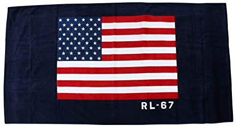 Amazon.com: Ralph Lauren Flag Beach Towel Red and Blue Flag, Stars and Stripes: Home & Kitchen