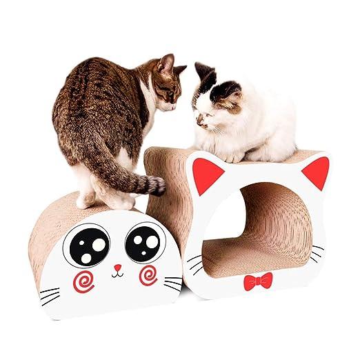 QBYLYF Rascador de cartón para Gatos Cat Scratcher Cardboard ...