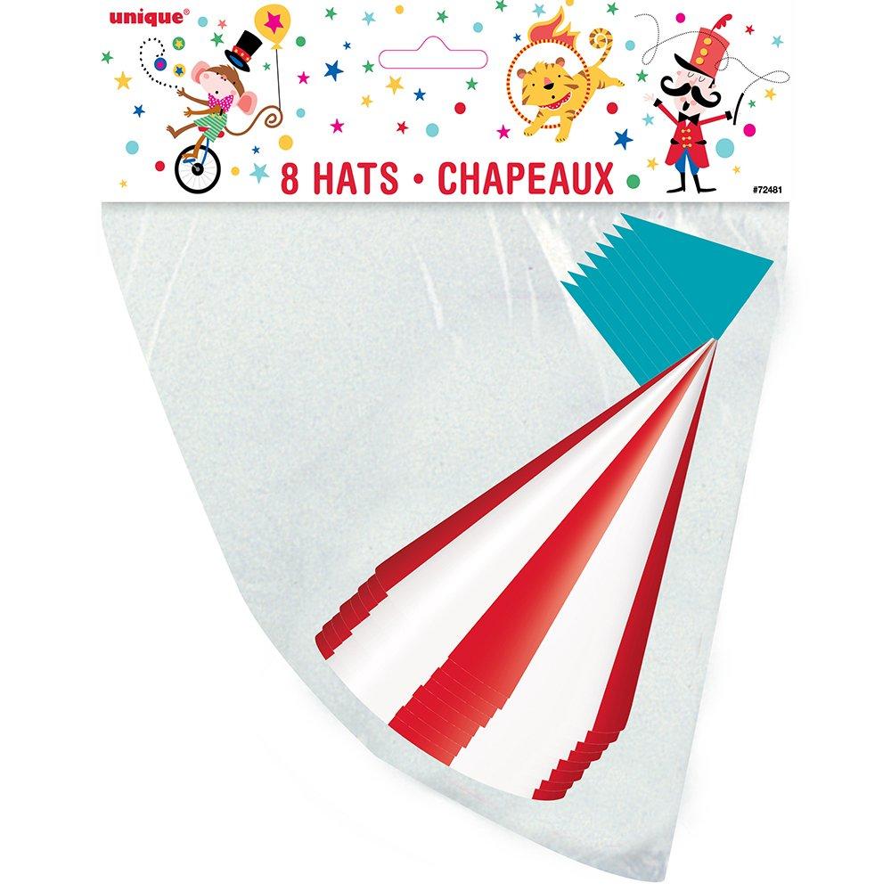 Unique Party 72481 Carnival Circus cappellini per feste ff601a1d86bc