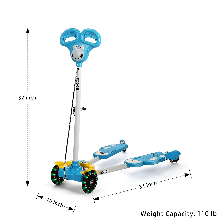 Amazon.com: Scooter para niños, cuatro ruedas niño patinete ...