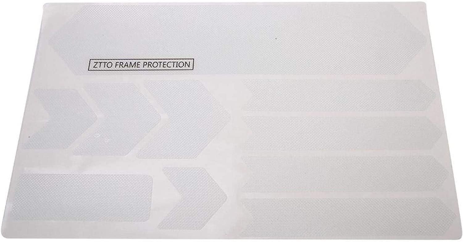 Blank SALUTUYA 3D Solid Bike Frame Protector Durable Including 4Pcs Different Sizes Stickers,for Freeride etc