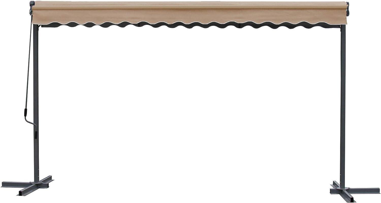 GRASEKAMP - Toldo con brazo articulado Londres (4 x 4 m, con funda): Amazon.es: Hogar