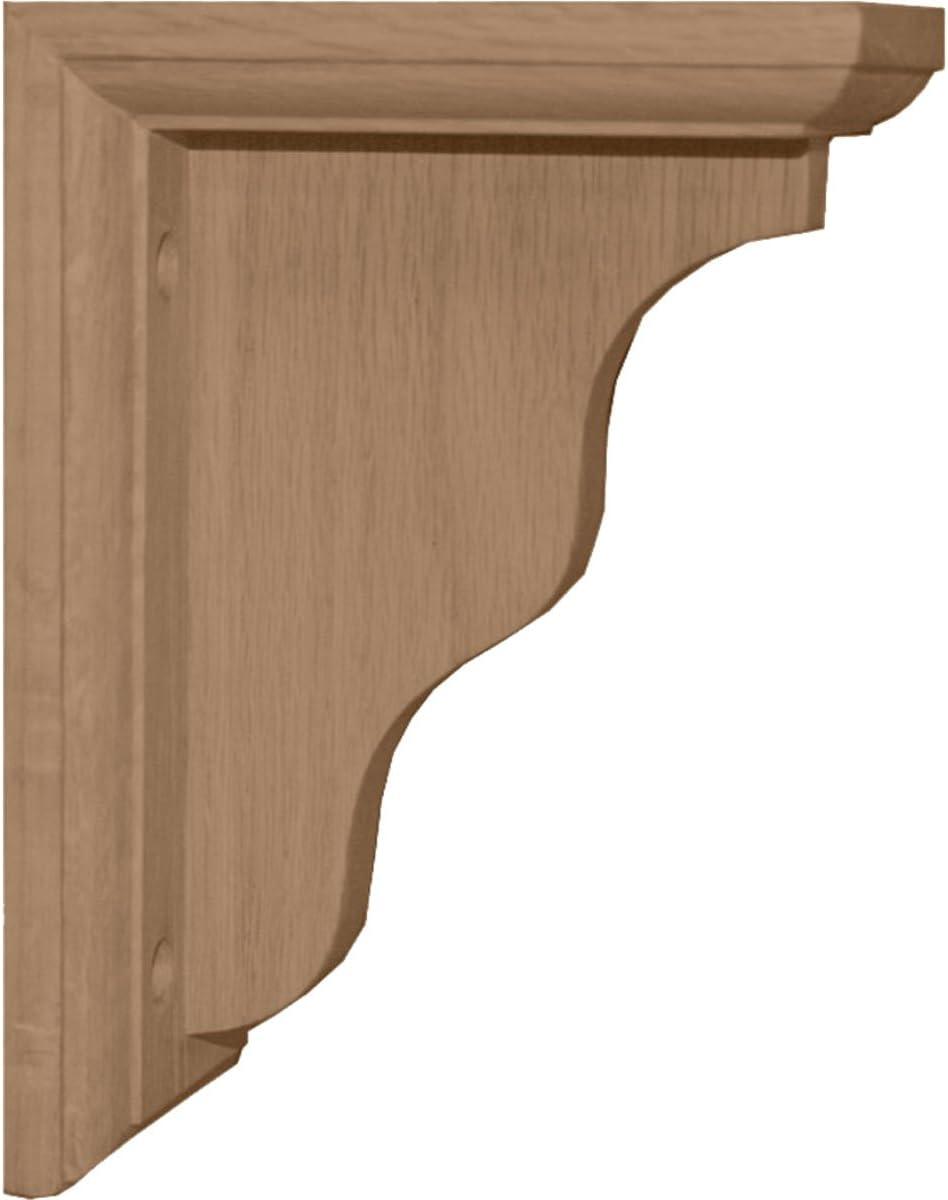 Red Oak , Ekena Millwork BKT02X09X11HARO-CASE-4 2 1//4W x 9D x 11H Hamilton Traditional Bracket 4-Pack
