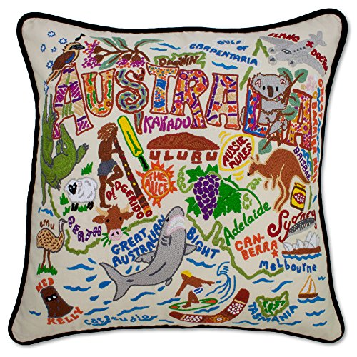 AUSTRALIA HAND EMBROIDERED PILLOW - CATSTUDIO