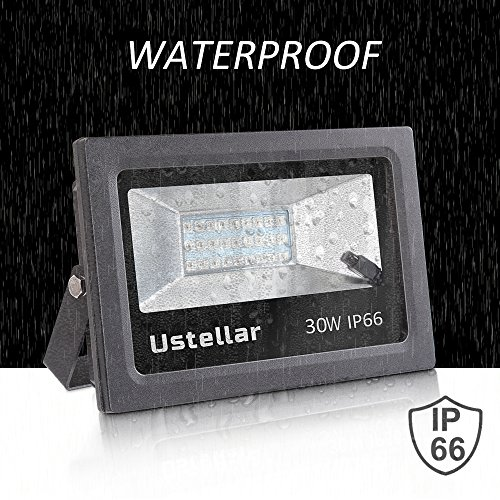 Ustellar 2 Pack 30W RGB LED Flood Lights, Outdoor Color Changing Floodlight with Remote Control, IP66 Waterproof 16 Colors 4 Modes Dimmable Wall Washer Light, Stage Lighting with US 3-Plug by Ustellar (Image #3)