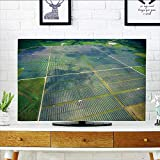 Philiphome tv Protective Cover View Over Solar Panel Farm Outside ustin Texas tv Protective Cover W30 x H50 INCH/TV 52''