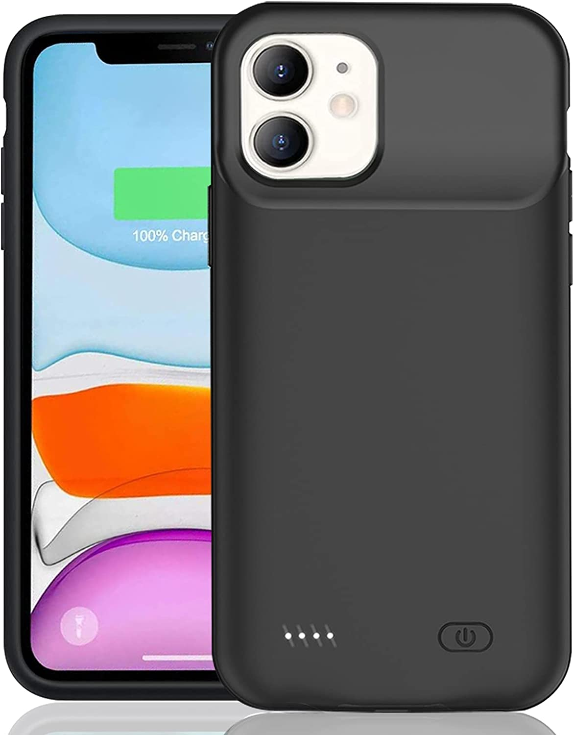 Battery Case for iPhone 11, Enhanced 7000mAh Smart Rechargeable Portable Protective Charging Case Extended Battery Backup Pack Compatible with iPhone 11 (6.1 inch) Charger Case (Black)