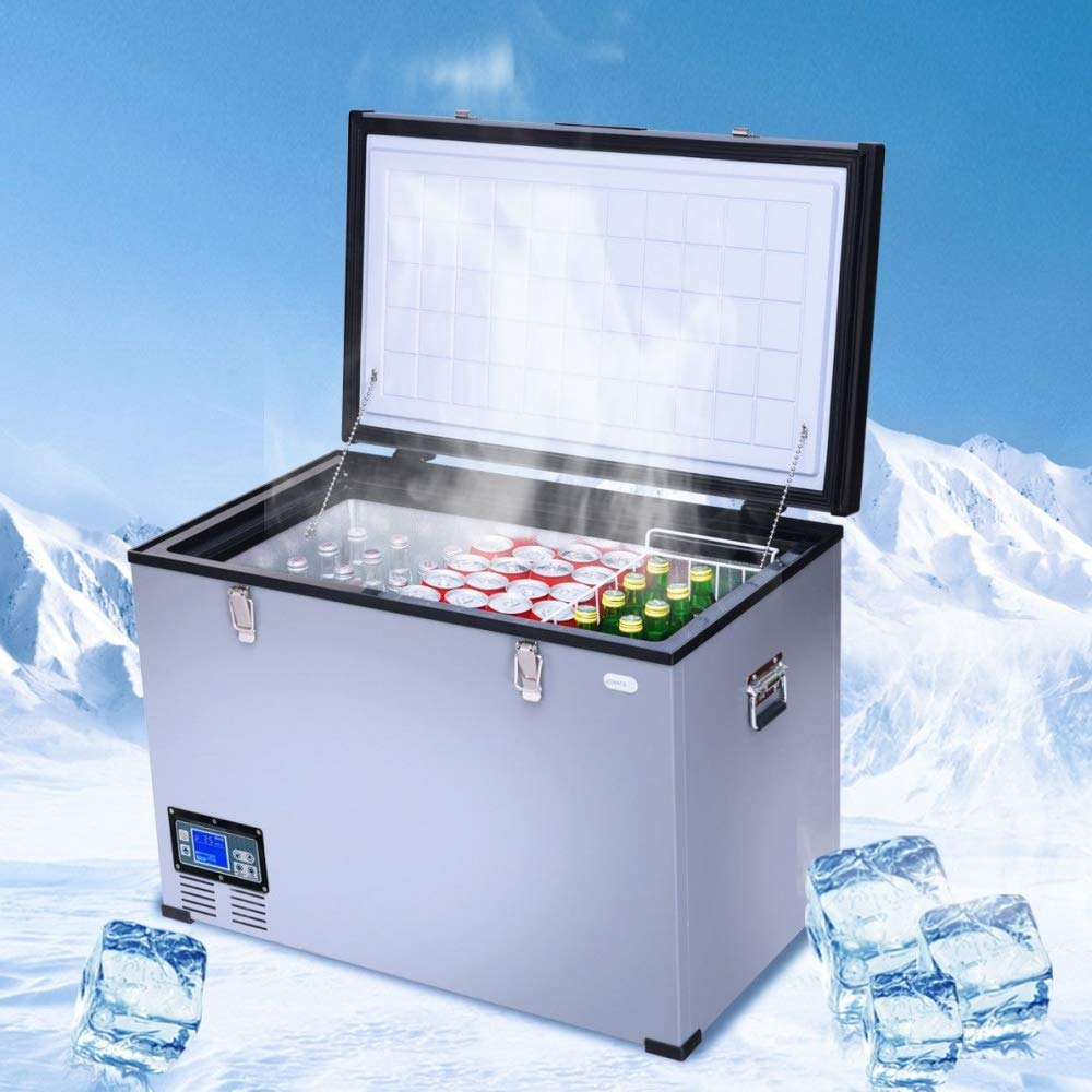 Hulaloveshop 100 Quart Portable Electric Car Cooler Refrigerator Camping Free & Fast Ship to US 5-7 Days