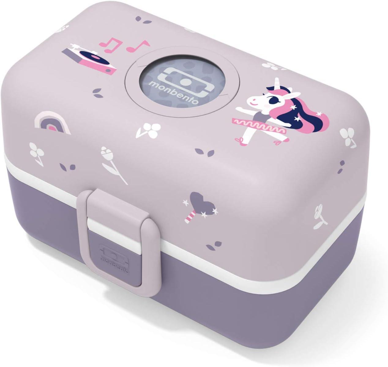 monbento Senza BPA Porta Pranzo con 3 Scomparti Passa al microonde /& lavastoviglie MB Tresor Cosmic Blue Lunch Box Tigre Bambini Porta merenda Personalizzabile