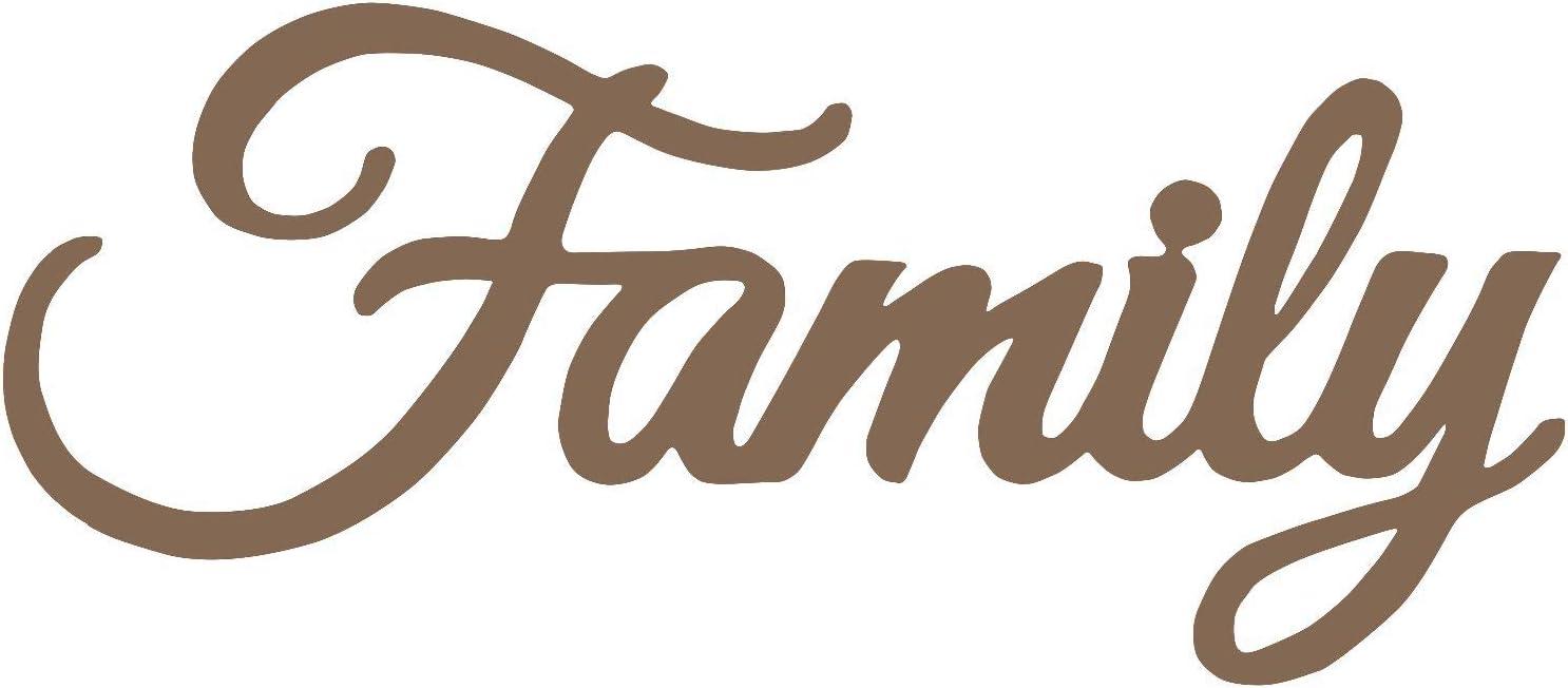 Family Script Metal Laser Cut Wall Art in a Rich Bronze Finish 18
