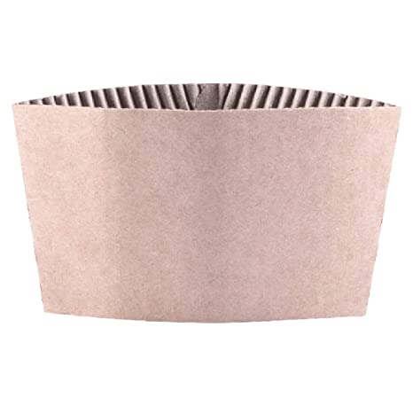 6288ca4df85 Disposable Corrugated Hot Cup Sleeves Jackets - 500ct Kraft Reusable Holder  Cup Sleeve, Protective Heat Insulation Paper Plastic white Cups for coffee  ...