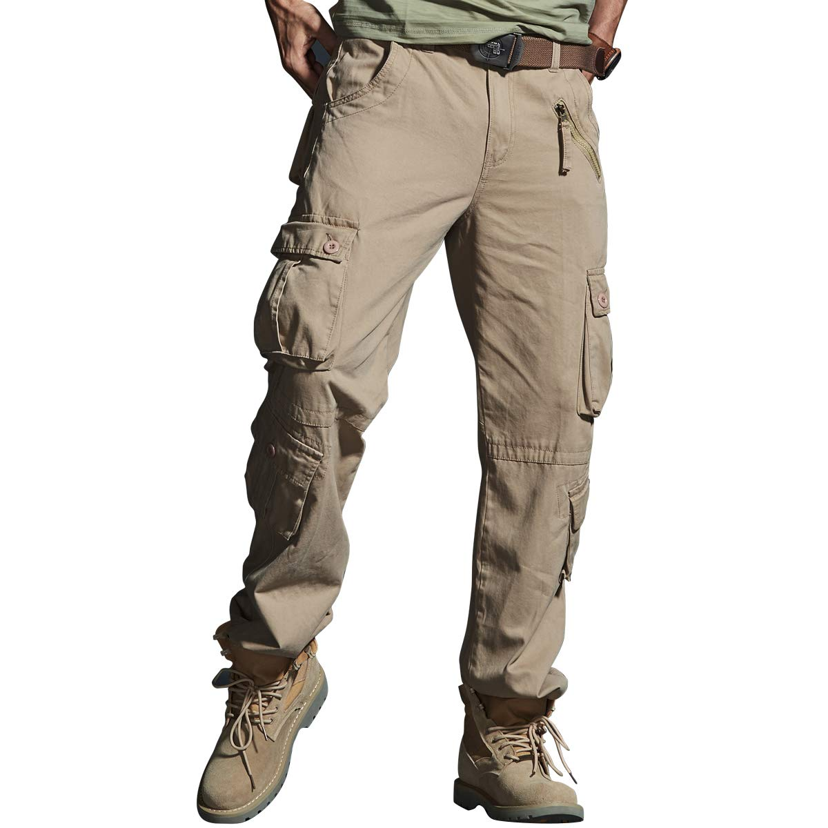 VAVE Men/'s Cargo Pants Tactical Combat Relaxed Fit Work Military Army Trousers
