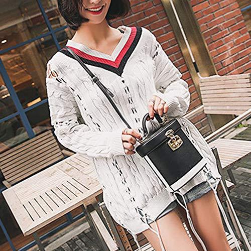 Mano Black Secchiello Donna Wu Mini Zhi Spalla Diagonale A Borsa Contrasto qZnn4vt
