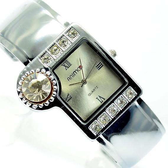 Mujer Reloj mujer RELOJ DE pulsera con brillantes horquillas Reloj en plata Mode Trend Reloj al