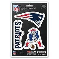 Calcomanía del equipo de los New England Patriots de la NFL, paquete de 3
