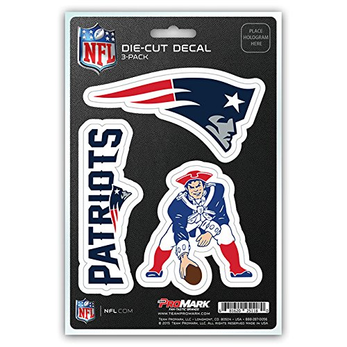 NFL New England Patriots Team Decal, 3-Pack