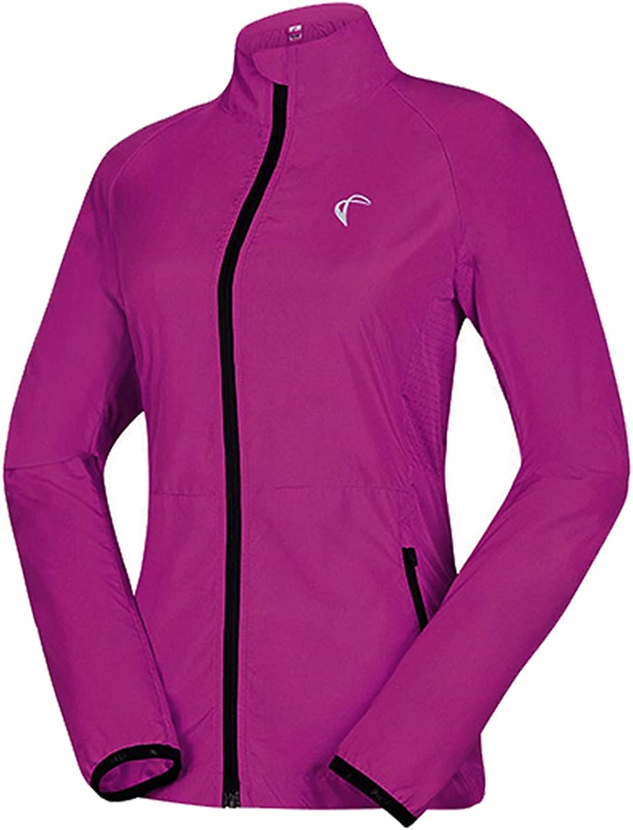 SHELCUP Windproof Water Resistant Convertible Cycling Running Jacket : Clothing