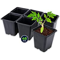 Garden Greens 48PK Planter Seedling Pots Square Reusable Durable 11cm x 12cm