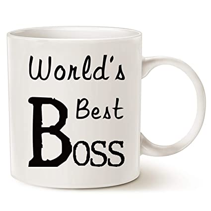 Amazon.com: MAUAG Christmas Gifts World\'s Best BOSS Coffee Mug Funny ...