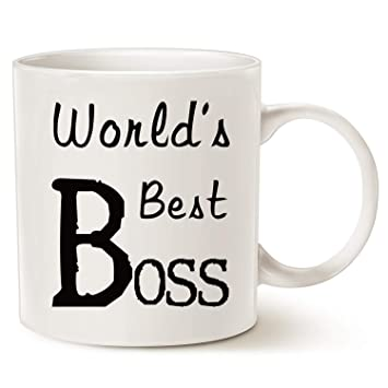 mauag christmas gifts worlds best boss coffee mug funny mug for boss day white 14 oz