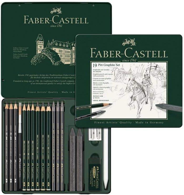 Faber-Castell 112973 - Lápiz (Multi, Negro, Arte, Caja): Amazon.es ...