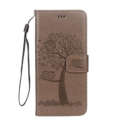 Felfy Kompatibel mit Galaxy S7 Hülle Leder Flip,Kompatibel mit Galaxy S7 Tasche mit Kartenfach Handyhüllen Leder PU Leder Wal