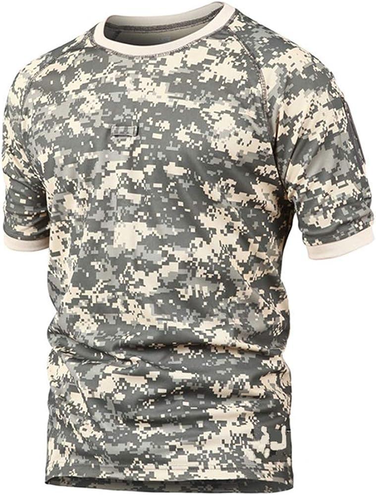 Memoryee Camisa de Manga Corta táctica Militar Slim Fit de los Hombres Camisas de Camuflaje Camisa de Combate del ejército al Aire Libre/ACU/S: Amazon.es: Ropa y accesorios