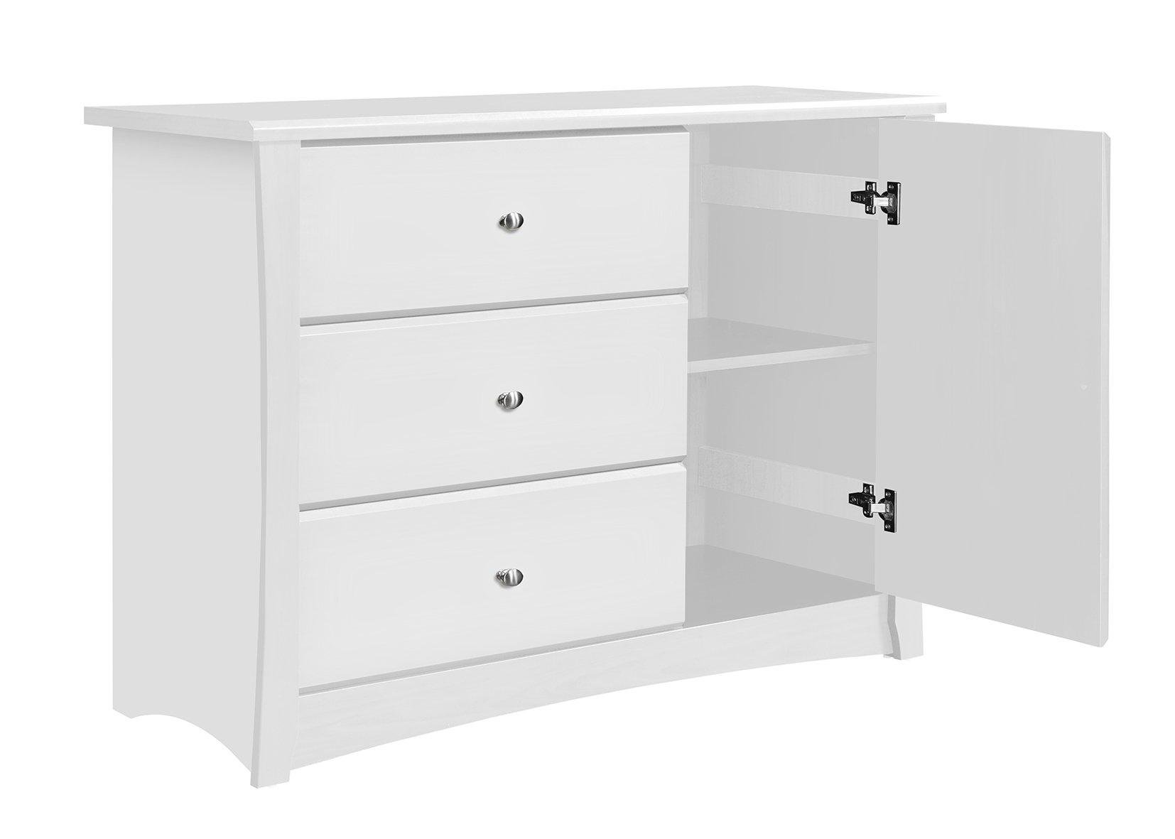 Storkcraft Crescent 3 Drawer Combo Dresser, White by Stork Craft (Image #2)