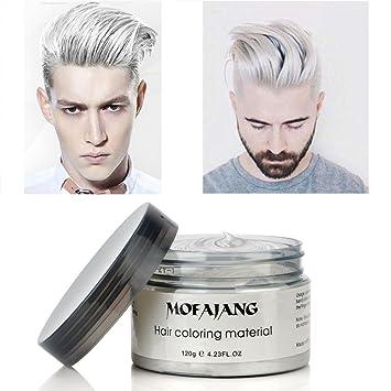 Crema De Tinte De Color Blanco Mate Peinado Instantaneo Duradera