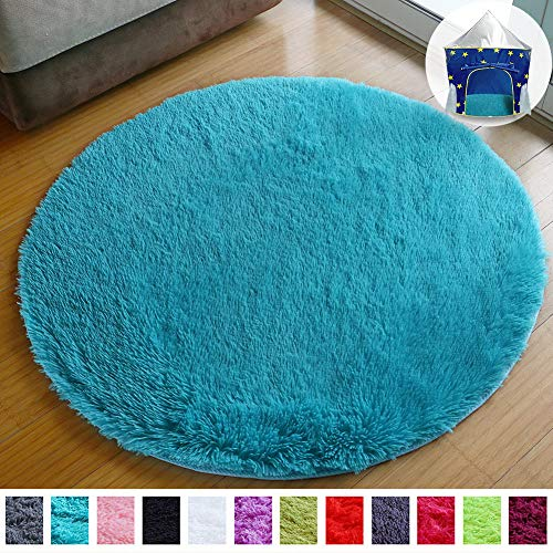 PAGISOFE Ultra Soft Round Area Rug for Play Tent Prince Castle 41