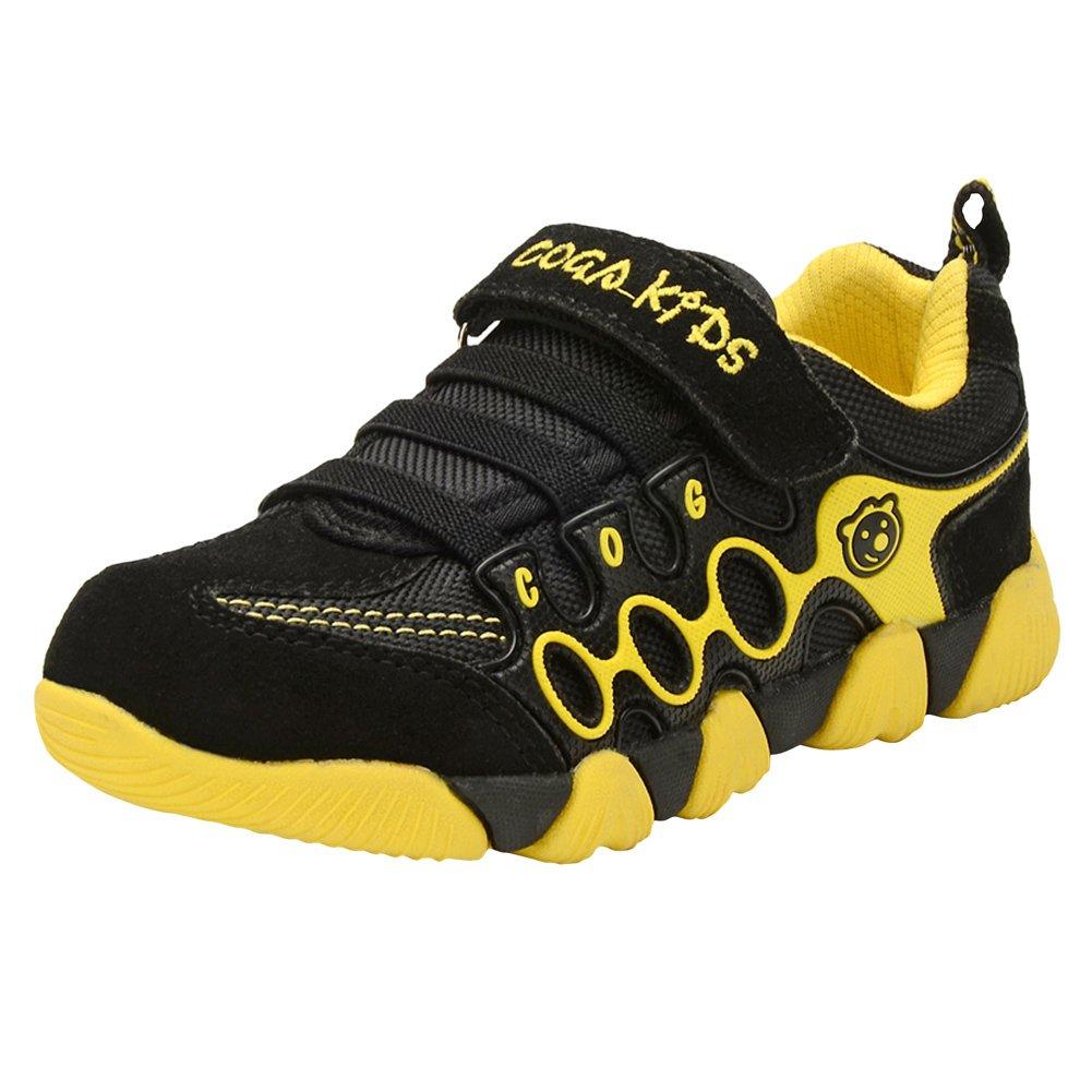 Genda 2Archer Unisex Boys Girls Fashion Sneakers Running Athletic Shoes(Black,39)