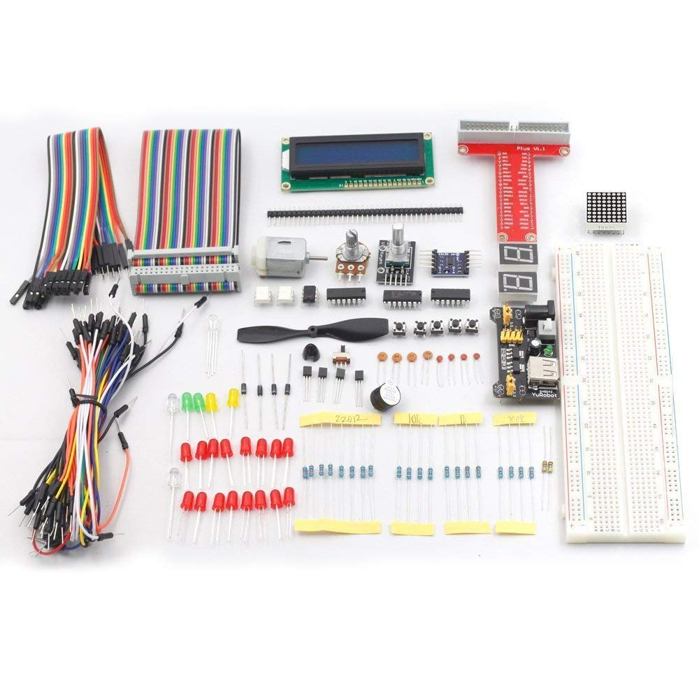 sunfounder project super starter kit for raspberry pi model b w 40sunfounder project super starter kit for raspberry pi model b w 40 pin gpio extension board, gpio cable, h bridge l293d, adxl335, dc motor, 7 segment,