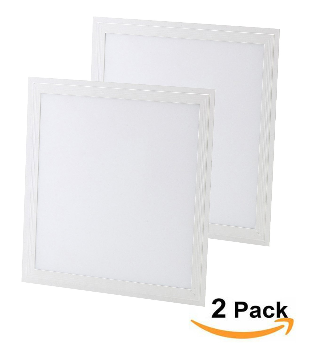 Hagolight LED Flat Square Ultra Thin Recessed Ceiling Light 38W 24''x24'' Flush Mounted Panel Lamp Light Cool White 6000-6500K With LED Driver AC85-265V-2 Pack