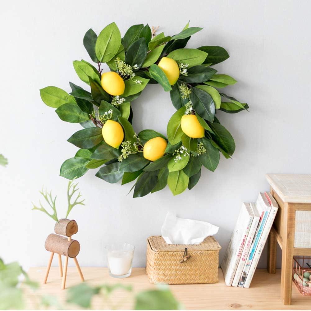 Yw-Flower Ghirlanda di Limone Ghirlanda Decorativa Porta dingresso Ghirlanda Nuziale Giardino Interno Decorazione Parete 16.9